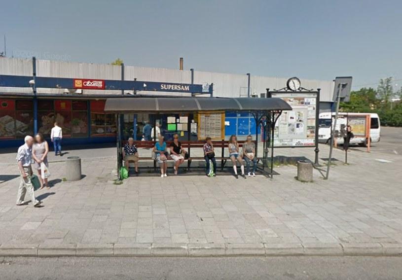 Przystanek autobusowy w Olkuszu /Google Street View /