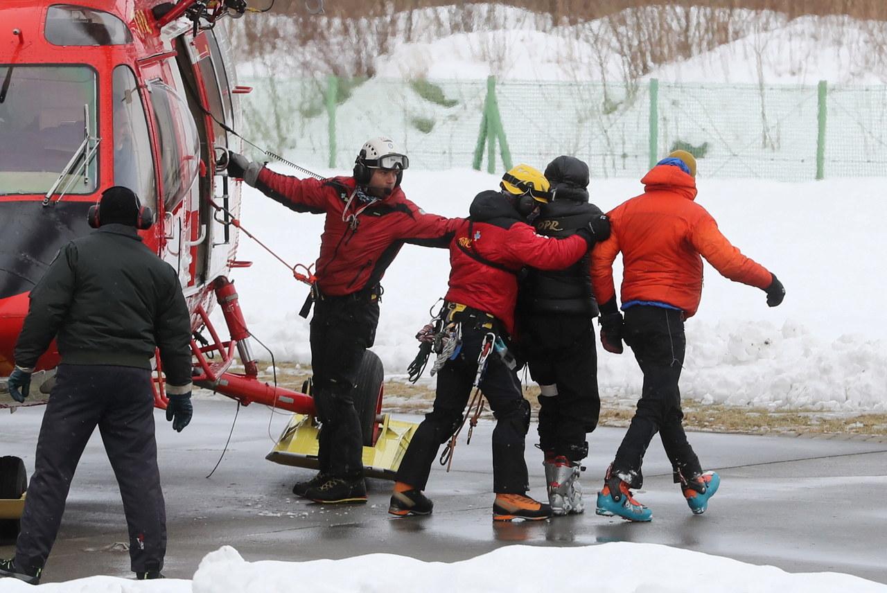 Przysypani przez lawinę skiturowcy trafili do zakopiańskiego szpitala