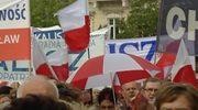 """Przyszliśmy tu walczyć o swoje. Chcemy, by w Polsce królowały """"wiara, nadzieja i miłość""""."""