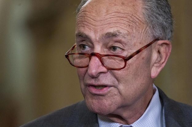 Przywódca demokratycznej większości w Senacie USA Chuck Schumer /SHAWN THEW    /PAP/EPA