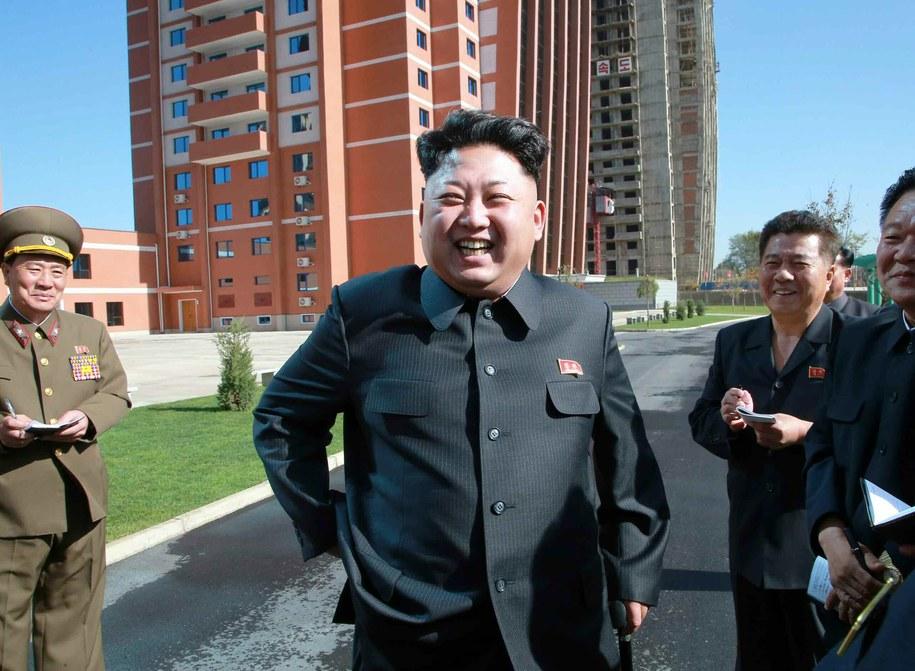 Przywódca Korei Północnej - Kim Dzong Un /RODONG SINMUN  /PAP/EPA