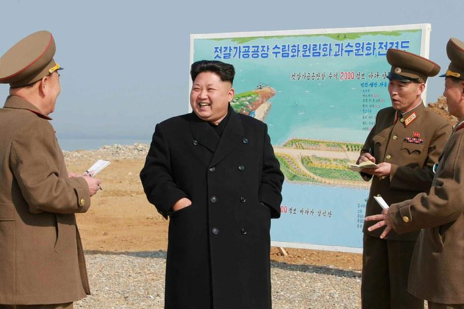 Przywódca Korei Północnej Kim Dzong Un /YONHAP   /PAP/EPA