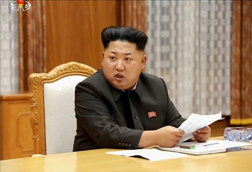 Przywódca Korei Północnej Kim Dzong Un /NORTH KOREAN TV YONHAP /AFP