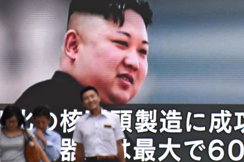 Przywódca Korei Północnej Kim Dzong Un /KAZUHIRO NOGI /AFP