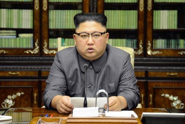 Przywódca Korei Północnej Kim Dzong Un /KCNA /PAP/EPA