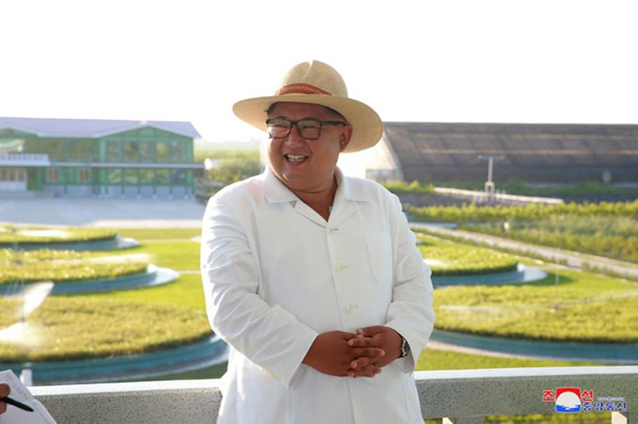 Przywódca Korei Północnej Kim Dzong Un /North Korean Official News Service (KCNA)/UPI Photo/Newscom /PAP