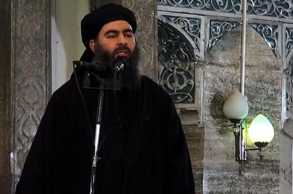 Przywódca Państwa Islamskiego Abu Bakr al-Bagdadi / Al-Furqan Media/Anadolu Agency /Getty Images