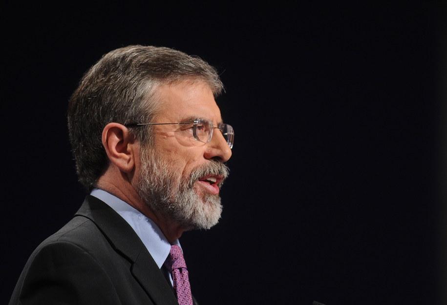 Przywódca północnoirlandzkiej partii Sinn Fein Gerry Adams /Photoshot    /PAP/EPA