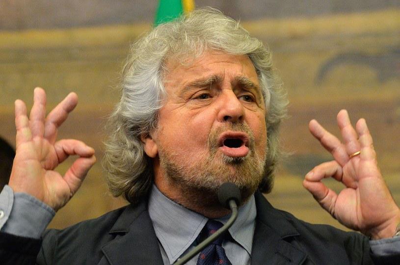 Przywódca populistycznego Ruchu Pięciu Gwiazd Beppe Grillo. /AFP