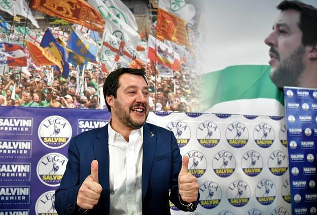 Przywódca prawicowej Ligi Matteo Salvini /AFP