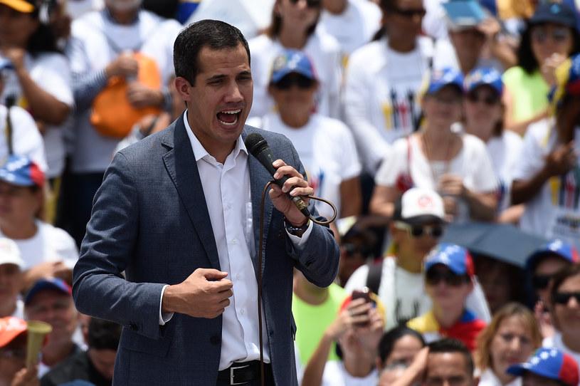 Przywódca wenezuelskiej opozycji Juan Guaido /FEDERICO PARRA / AFP /AFP
