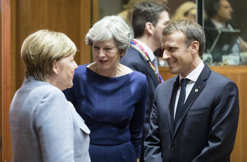 Przywódcy Francji, Niemiec i Wielkiej Brytanii na szczycie UE /OLIVIER HOSLET /PAP
