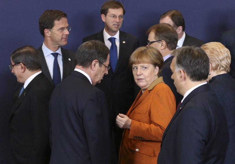 Przywódcy na szczycie UE /OLIVIER HOSLET /PAP/EPA