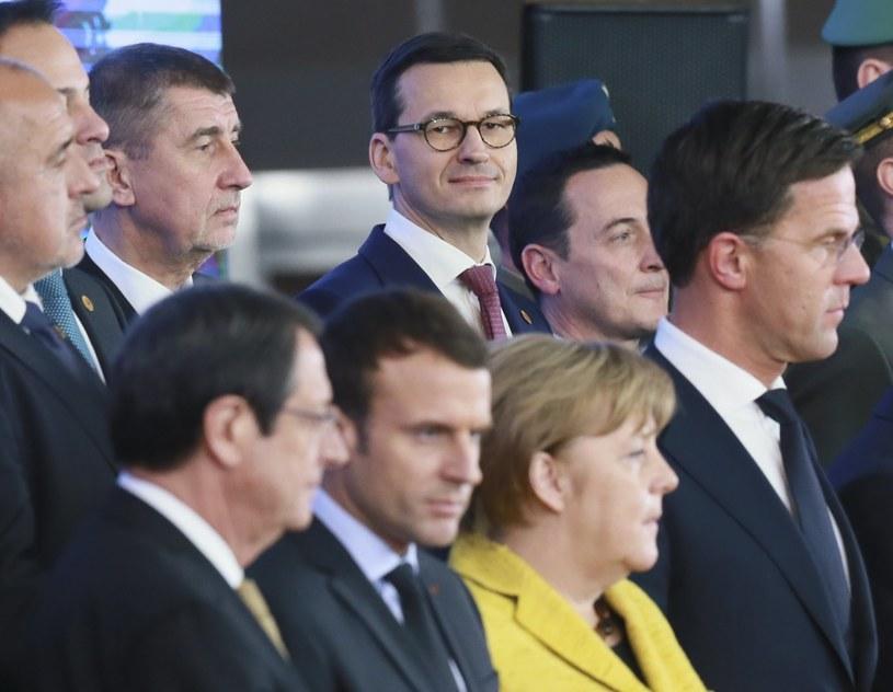 Przywódcy państw członkowskich UE /OLIVIER HOSLET /PAP/EPA