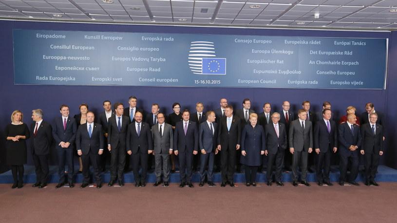 Przywódcy państw UE podczas unijnego szczytu /Radek Pietruszka /PAP
