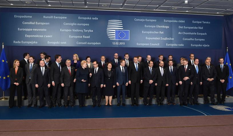 Przywódcy uczestniczący w nieformalnym szczycie w Brukseli /PAP/EPA
