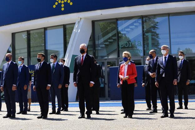 Przywódcy UE podczas  Szczytu Społecznego w Porto /Violeta Santos Moura / POOL /PAP