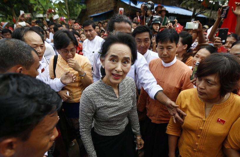 Przywódczyni demokratycznej opozycji w Birmie Aung San Suu Kyi /PAP/EPA
