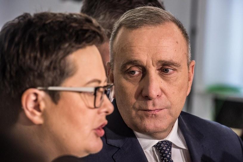 Przywództwo Koalicji: Katarzyna Lubnauer z Nowoczesnej i Grzegorz Schetyna z Platformy Obywatelskiej /Jacek Domiński /Reporter
