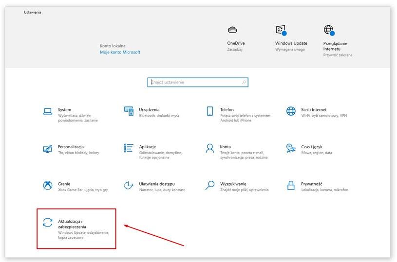 Przywracanie ustawień fabrycznych Windowsa 10. Fot. Techpolska /Efectownia