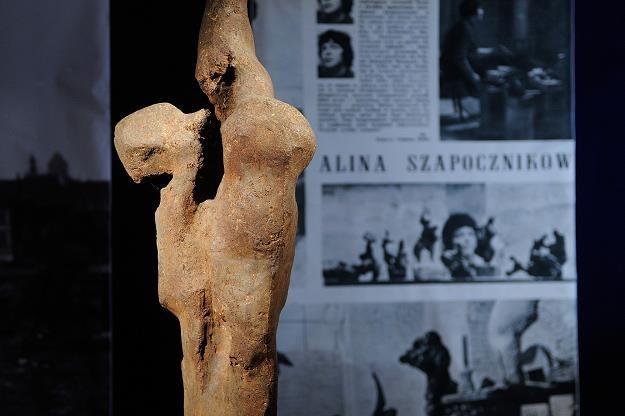 """""""Ptak"""" - rzeźba odnaleziona po 50 latach /fot. Michał Wargin /East News"""