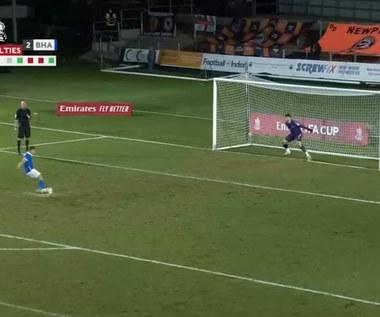 Puchar Anglii. Newport County - Brighton & Hove Albion 1-1, karne 3-4 - skrót (ELEVEN SPORTS). WIDEO