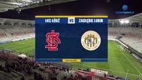 Puchar Polski. ŁKS - Zagłębie Lubin 0-1. Skrót meczu. WIDEO (Polsat Sport)