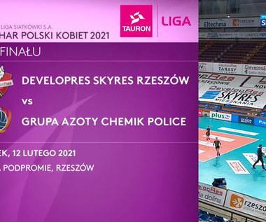 Puchar Polski siatkarek. Developres SkyRes Rzeszów - Grupa Azoty Chemik Police 2:3. Skrót meczu (POLSAT SPORT). Wideo