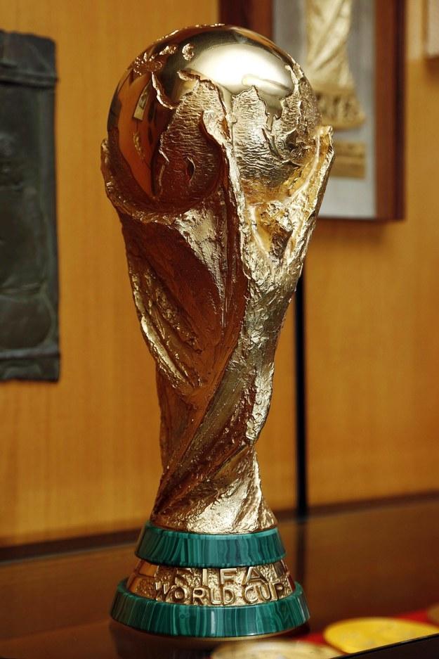 Puchar Świata, który jest wręczany zwycięzcy mundialu /Kikapress/Andrea Raffin /PAP