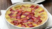 Pudding marcepanowy z rabarbarem