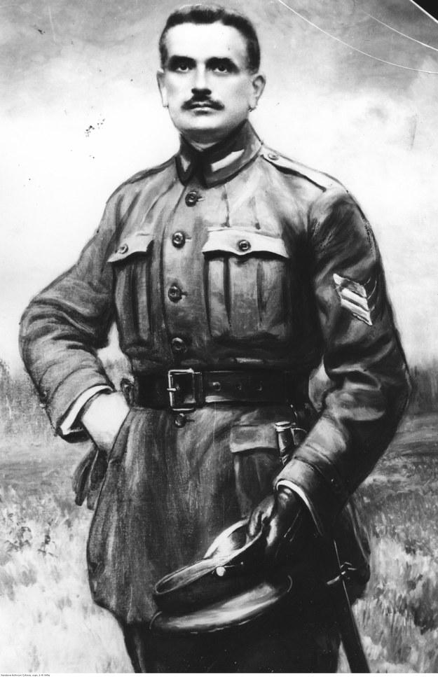 Pułkownik Bolesław Mościcki, dowódca 1 Pułk Ułanów Krechowieckich. Fotografia portretu /Z archiwum Narodowego Archiwum Cyfrowego
