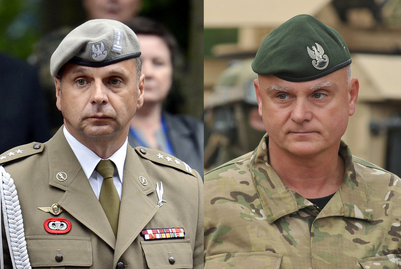 Pułkownik Piotr Gąstał i generał Piotr Patalong /Bartosz Krupa/ Wojciech Strozyk /Reporter