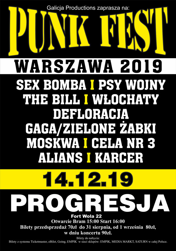 Punk Fest odbędzie się 14 grudnia w Warszawie /materiały prasowe