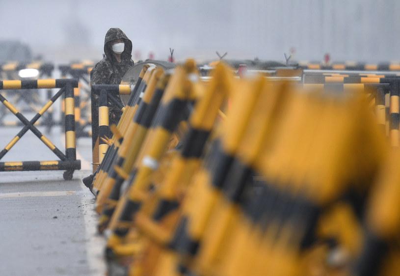 Punkt kontrolny przed granicą Korei Południowej z Północną /JUNG YEON-JE / AFP /AFP