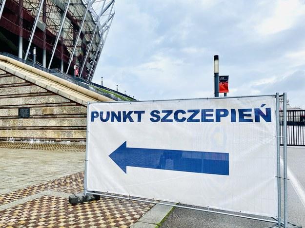 Punkt szczepień na Stadionie Narodowym /Karolina Bereza /RMF FM