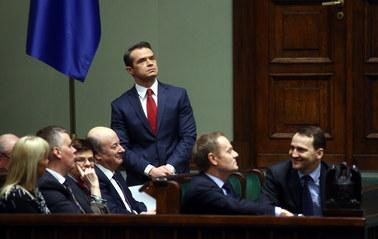 Puste ławy sejmowe podczas debaty nad losem ministra Nowaka