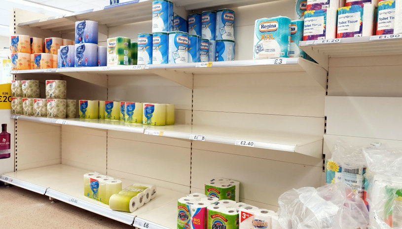Puste półki w brytyjskich sklepach /Gareth Fuller/PA Images  /Getty Images