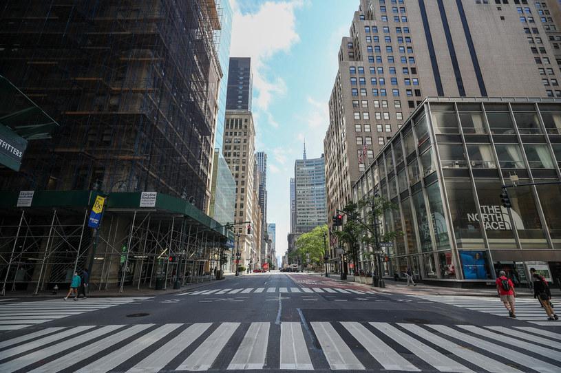 Puste ulice Nowego Jorku w czasie epidemii koronawirusa /Tayfun Coskun/Anadolu Agency /Getty Images