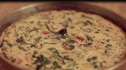 Puszysty omlet z serem i szynką