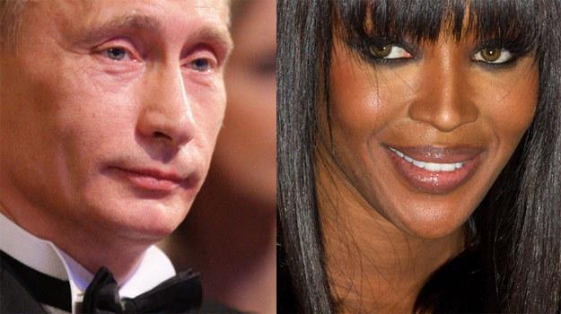 Putin - celebryta, Campbell - dziennikarka /Getty Images/Flash Press Media