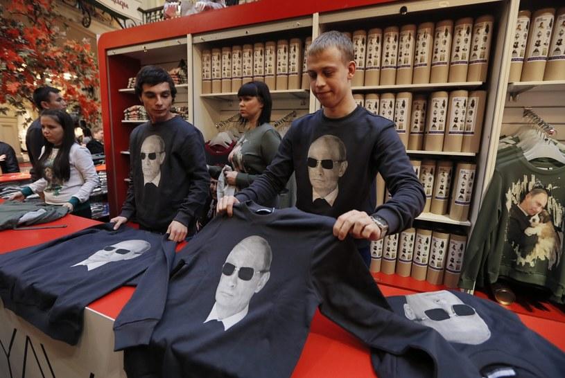 Putin cieszy się 80-procentowym poparciem /PAP/EPA