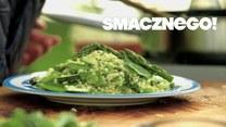 Pyszny wegański obiad. Kasza pęczak z zielonymi, sezonowymi warzywami