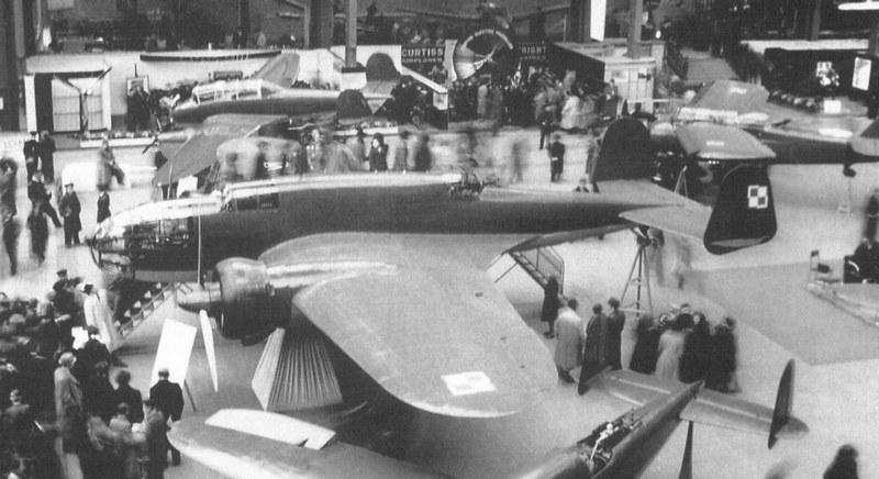 """PZL.37 """"Łoś"""" na Salonie Lotniczym w Paryżu, w 1938 roku /INTERIA.PL/materiały prasowe"""