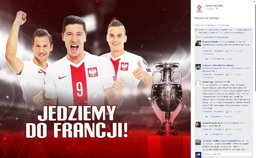 PZPN pogratulował naszym piłkarzom awansu na Euro! /PZPN