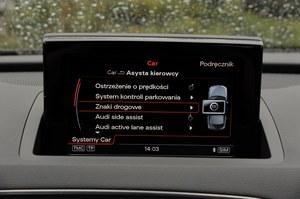Q3 oferuje wiele aktywnych systemów wsparcia kierowcy. Niestety, wyłącznie za dopłatą. /Motor