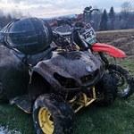Quad i motocross w rezerwacie. Nastoletni kierowca próbował rozjechać leśnika