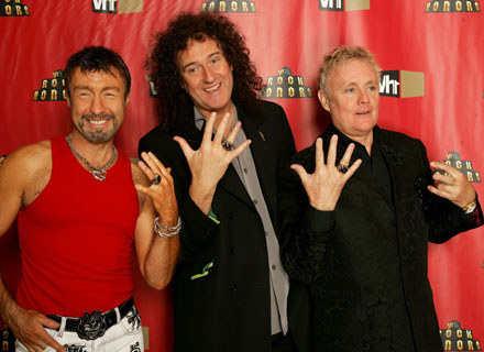 Queen: Paul Rodgers, Brian May i Roger Taylor - fot. Frank Micelotta /Getty Images/Flash Press Media