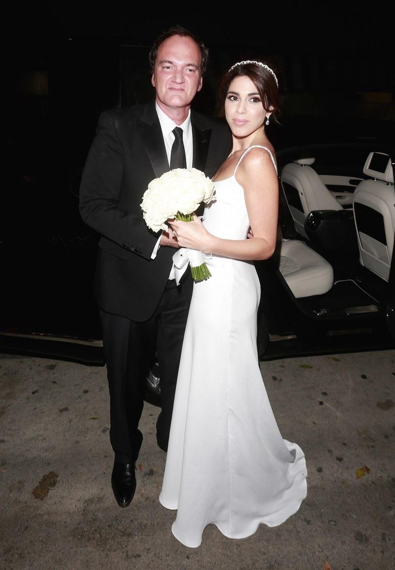 Quentin Tarantino i jego ukochana w dniu ślubu /East News