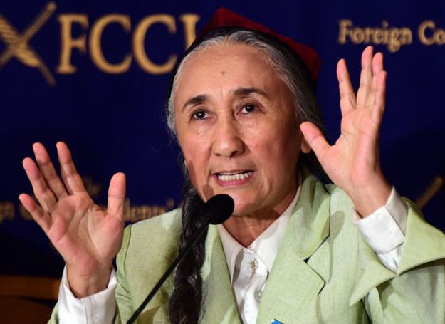 Rabije Kadir, ujgurska działaczka polityczna oskarżana przez władze Chin o działalność separatystyczną /YOSHIKAZU TSUNO /AFP