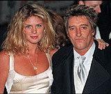 Rachel Hunter i Rod Stewart w połowie lat 90. byli szczęśliwym małżeństwem /AFP